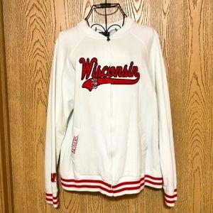 Wisconsin Badgers Vintage-Style Zip-Up Sweatshirt